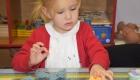 little girl doing activity